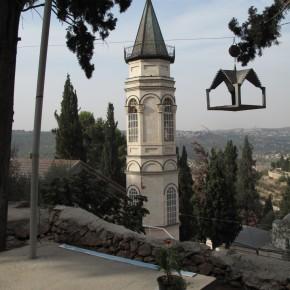 Обустройство старой колокольни Горненского монастыря в Иерусалиме