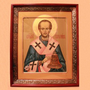 Икона Святителя Павлина с частицей его святых мощей установлена в Московской Школе Звонарей
